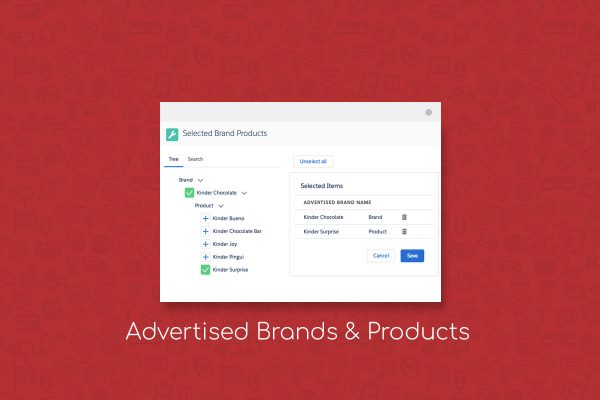 advertising management advertised brands & products