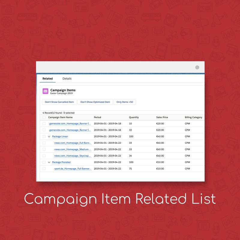 Streamline Your Media Ad Management with ADvendio's Campaign Item Related List
